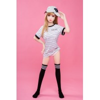 100cm Newest Aisa cute mini full silicone metal skeleton sex love dolls