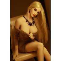 165cm  Blonde Long Hair Long Leg elegant real life size adult sex doll -Christina