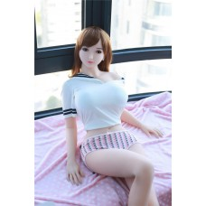 165CM Japanese brown short hair student style silicone adult sex doll Carol