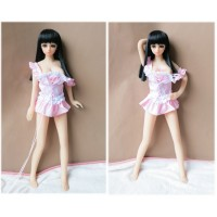 65CM Top Quality Full Body Silicone Mini Sex Doll With Skeleton Realistic Pussy Sex Toys For Men